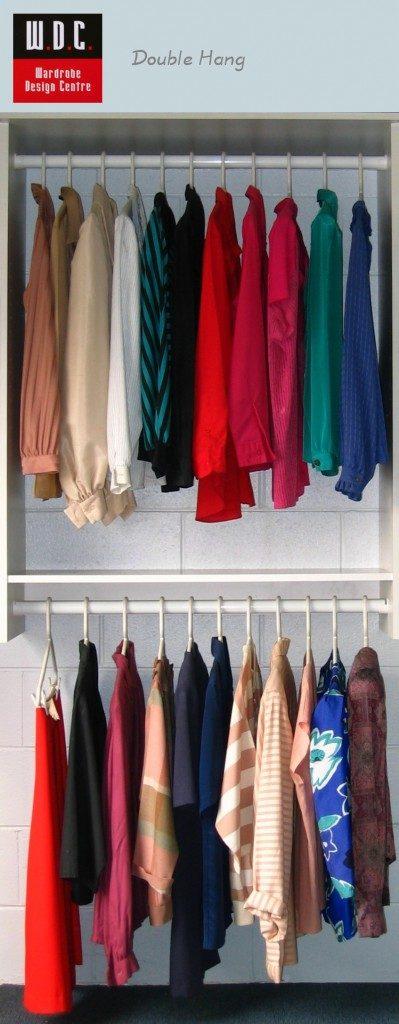 DoubleHangingWardrobeInternalsLadies Wardrobe Design Centre