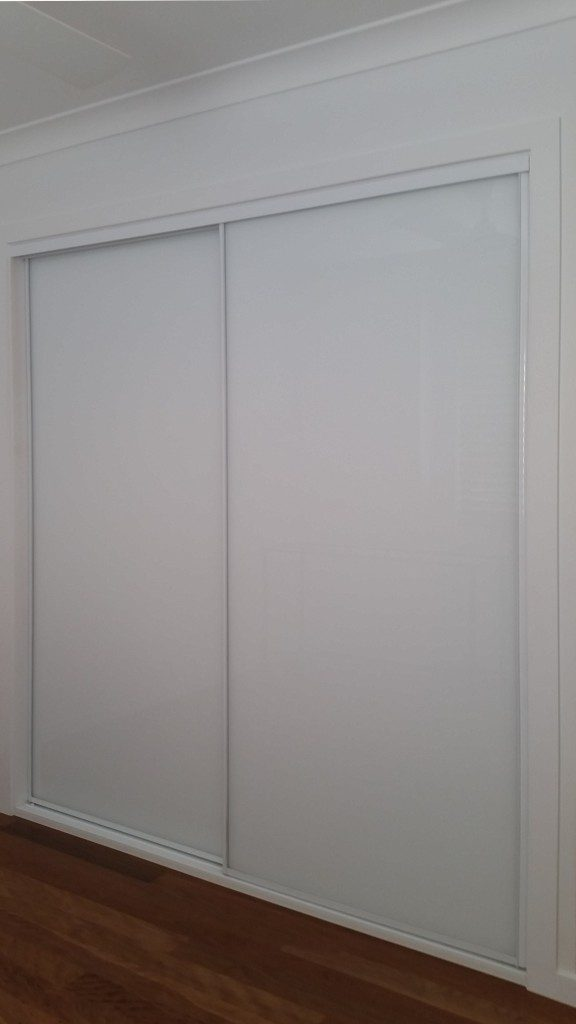 White Glass Sliding Wardrobe Doors Wardrobe Design Centre