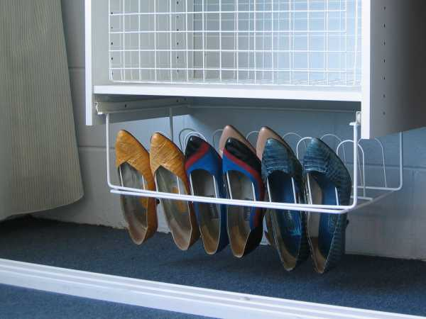 9 Pair Sliding Shoe Rack - In