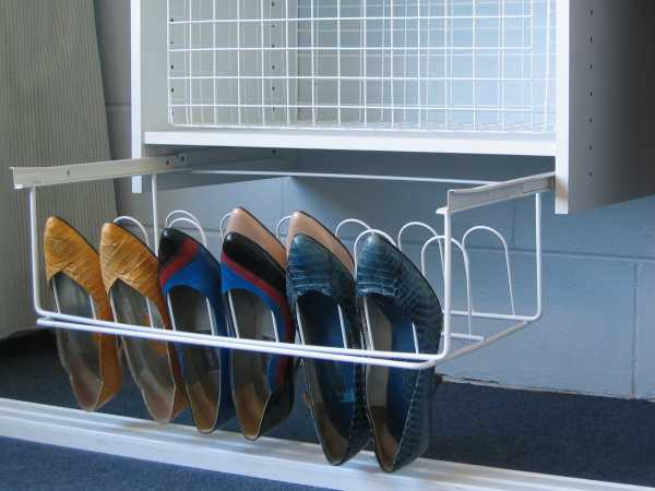 9 Pair Sliding Shoe Rack - Out
